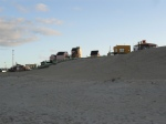 Row of hostals along the beach in Punta del Diablo